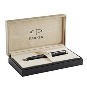 Parker Premier Rollerball Pen, Deep Black Lacquer with Silver Trim