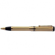 Xezo for Unite4 : Good Tribune 18 Karat Gold Layered Diamond-Cut Ballpoint Pen, Hallmarked 18-Karat Gold Plated, Weighty