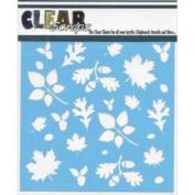 Clear Scraps Stencils 15cm x 15cm -Fall Leaves Background