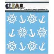 Clear Scraps Stencils 15cm x 15cm -Anchors & Helms