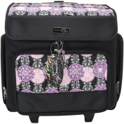 Everything Mary Rolling Scrapbook Tote-Purple/Pink