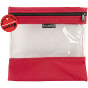 Seeyourstuff Clear Storage Bags 25cm x 28cm Red
