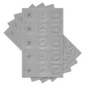 (Price/package)Gartner Studios 77738 Assorted Silver Certificate Seals 60ct