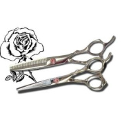Bonika ROSESET Beauty Salon Styling Hair Cutting Set of Rose Shears / Scissors
