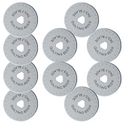 10-Pack Quilting Bee 45mm Rotary Cutter Refill / Replacement Blades