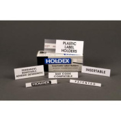 (Price/box)Holdex R61 Label Holders, 5.1cm - 1.3cm x 15cm , Clear, Removeable