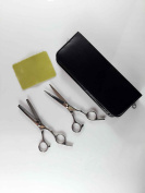 E-Bro® Professional Hair Cutting Scissors Shears Barber Thinning Set Kit with a Black Case