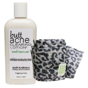 Brilliant Booty Kit   Butt Acne Clearing Lotion and ExfoliMATE Magic Body Exfoliating Cloth for Soft & Young Skin