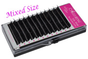 Alluring Silk Mink Eyelash Extensions Lashes - C Curl 3D lashes .07mm thickness (Mixed C.07x10-14mm