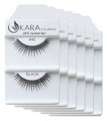 KARA 100% Natural Human Hair Hand Crafted Eyelashes Short, Medium, Long 6Pairs