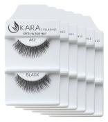 KARA 100% Natural Human Hair Hand Crafted Eyelashes Short, Medium, Long 6Pairs