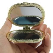 Popfeel Flower Double Compact Purse Vanity Makeup Handheld Mirror