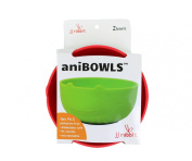 JJ Rabbit aniBOWL, Frog/Lime Pop/Wet Coral, 2 Count