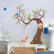 "Pop Decors ""Woodland in the Morning"" Beautiful Wall Stickers for Kids Rooms"
