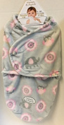 Blankets & Beyond Swaddle Bag Pink & Grey Owls & Elephants
