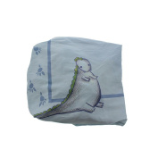 Truly Scrumptious by Heidi Klum Dinosaur Tracks Fitted Crib Sheet Blue