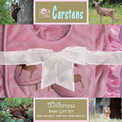 Carstens Boxed Baby Gift Set, Pink Moose