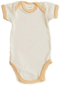 SweatyBaby Orange Trim Organic Short Sleeve Bodysuit
