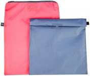 J L Childress Wet-to-Go Wet Bags - Grey/Pink
