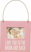 Primitives by Kathy Baby Picture Frame-I Love You To The Moon And Back-Pink