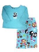 Joe Boxer Infant Girls Snow Cute Fleece Sleepwear Set Panda Bear Pyjamas PJ