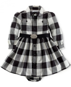 Ralph Lauren Polo Baby Girls Plaid Twill Cheque Dress Set