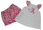 Baby Girl's 0-3 Months Zebra Swing Top and Pink Print Shorts Set