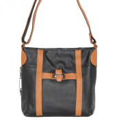 Concealed Carry Purse - Leather Strap Crossbody Messenger by Roma Leathers