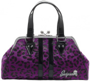 Sourpuss Temptress Purple Leopard Purse
