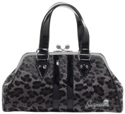 Sourpuss Temptress Grey Leopard Purse