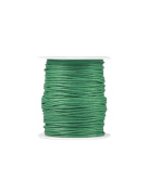 FreshHear Pack of 1 for 80m Waxed Cotton Cord Colour Emerald Size 1.5x1.5mm