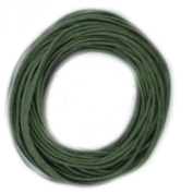 Waxed Cotton Cord Green 1mm Made in USA