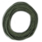 Waxed Cotton Cord Olive Green 1mm Made in USA