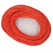 Waxed Cotton Cord Orange 2mm Made in USA