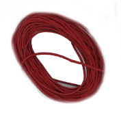 Waxed Cotton Cord Red 1mm Made in USA