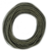 Waxed Cotton Cord Stone 1mm Made in USA