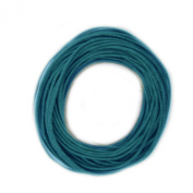 Waxed Cotton Cord Teal Blue Green 1mm Made in USA