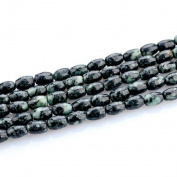 HLDIY 1 Strand Blackish Green Stone Loose Beads For Jewellery Making