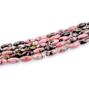 HLDIY 1 Strand Red lines jade Stone Loose Beads For Jewellery Making Beads