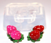 Clear-silicone jewellery Strawberry mould.size-18x24 mm,for pendants,earring,art,craft .Handmade item.