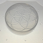 Flexible Resin Mould Sacred Geometry Seed of Life 5.1cm Diameter X 1.3cm Deep