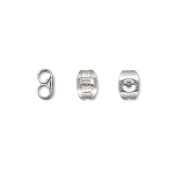 100 316L Stainless Surgical Steel Butterfly Earring Backings for Post Stud Backs