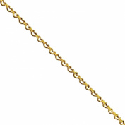 18K Gold Overlay Beading And Extender Chain CHG-314