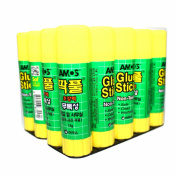 X20 15g (15ml) Amos Glue Stick Non Toxic Paper Stationery School Office - Pack of 20 Stick