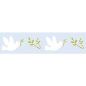 Light blue Masking Tape with doves patterns