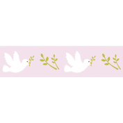 Pink Masking Tape with doves patterns