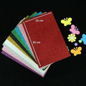 Pack Of 10 A4 Size Eva Foam Glitter Sheets - For Crafts, Home. Office, Party Decorations, Diy Crafts