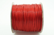 RED 1mm Faux Imitation Leather Polyester Braided Cord Macrame Bracelet Thread Artisan String
