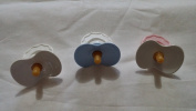 Baby Doll Pacifiers, Lot of 3, Assorted Colours , Pretend Play