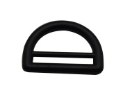 Amanaote Black 2.5cm Inner Big Dia and 2.4cm Inner Small Dia D Ring D Rings Welded Pack of 6